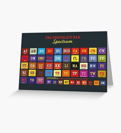 Chocolate Bar Table Greeting Card