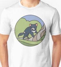 Round Tasmania: Devil Unisex T-Shirt