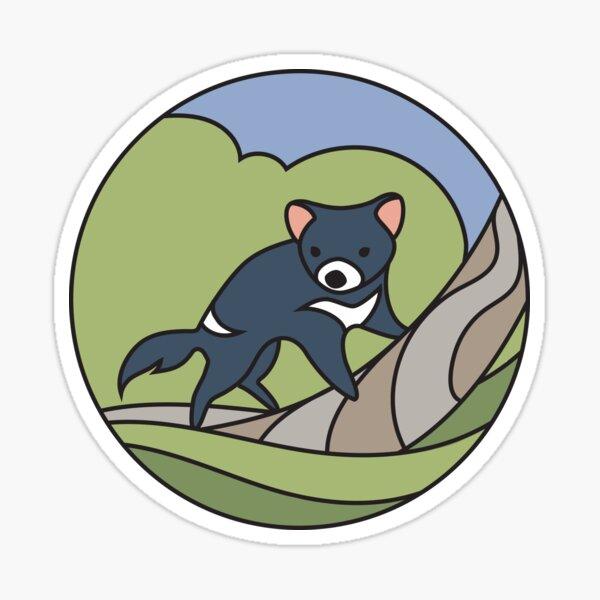 Round Tasmania: Devil Sticker