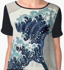 The great wave, famous Japanese artwork Chiffon Top