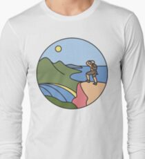 Round Tasmania: Wineglass Bay Long Sleeve T-Shirt