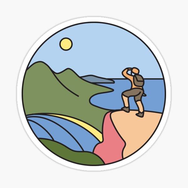 Round Tasmania: Wineglass Bay Sticker