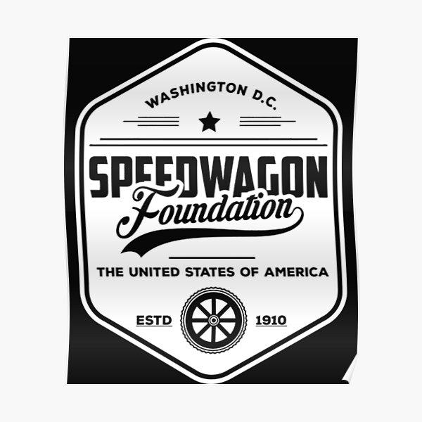 Camiseta Jojos Bizarre Adventure de Speedwagon Foundation Retro Póster
