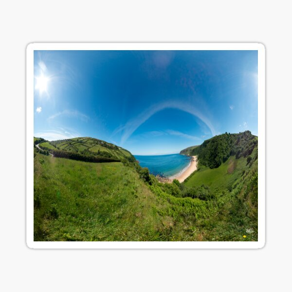 Kinnagoe Bay Panorama Sticker