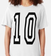 10, TEAM SPORTS NUMBER, TEN, TENTH, Competition Slim Fit T-Shirt