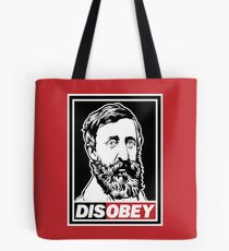 "Henry David Thoreau ""Disobey""  Tote Bag"
