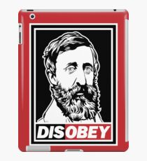 """Henry David Thoreau """"Disobey""""  iPad Case/Skin"""