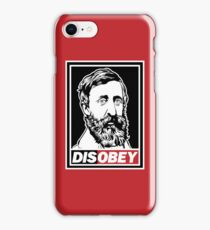 "Henry David Thoreau ""Disobey""  iPhone Case/Skin"
