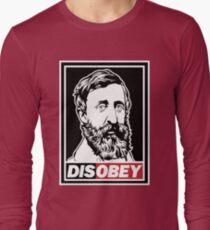 """Henry David Thoreau """"Disobey""""  Long Sleeve T-Shirt"""