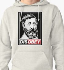 "Henry David Thoreau ""Disobey""  Pullover Hoodie"