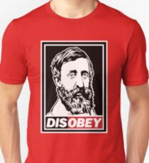"Henry David Thoreau ""Disobey""  Unisex T-Shirt"