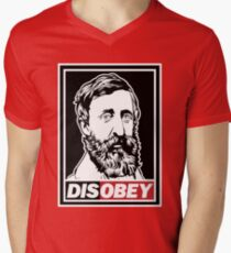 "Henry David Thoreau ""Disobey""  Men's V-Neck T-Shirt"