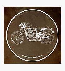 Royal Enfield Bullet 500 classic motorcycle gift for men Photographic Print