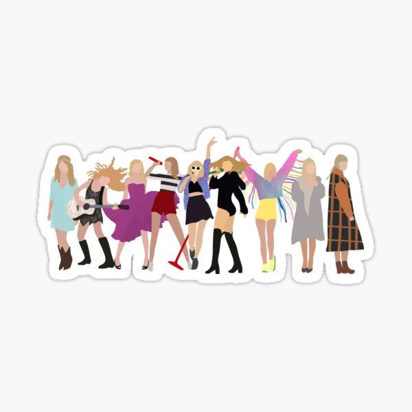 Taylor Swift Eras Evolution Sticker