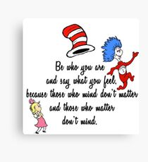 Dr Seuss Quote Canvas Print