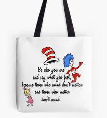 Dr Seuss Quote Tote Bag