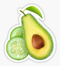 Avocado and cucumber Sticker