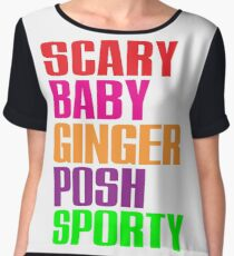 Scary, Baby, Ginger, Posh, Sporty Chiffon Top