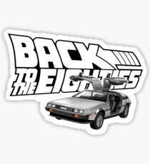 Delorean Back to the Future 80s Style Sticker