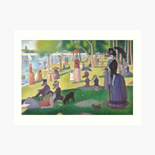 A Dog Day on La Grande Jatte Art Print