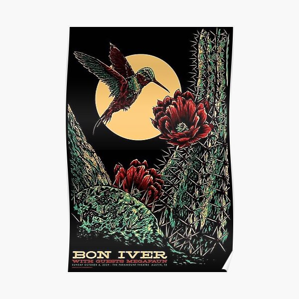 Bon Iver Austin 09 Taylor - 1st Poster