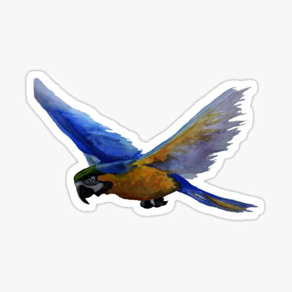 Parrot In Flight Sticker