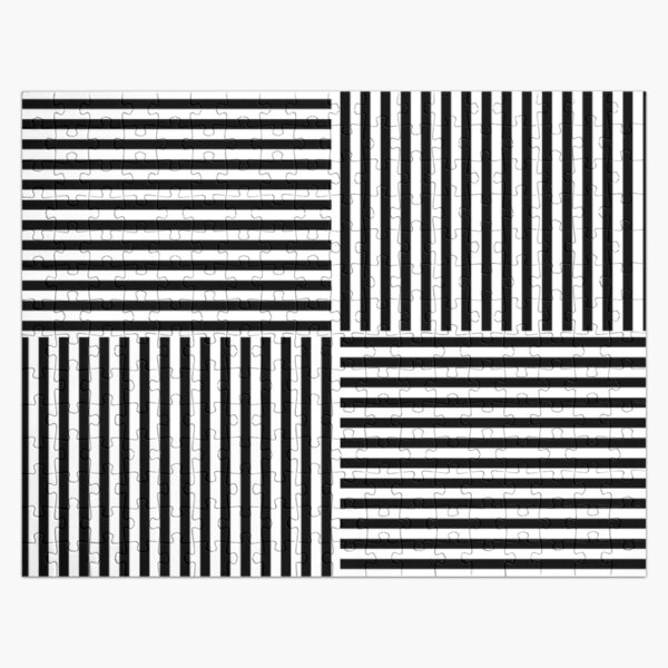 Optical Illusion Art, Horizontal and Vertical Lines ILLusion Jigsaw Puzzle