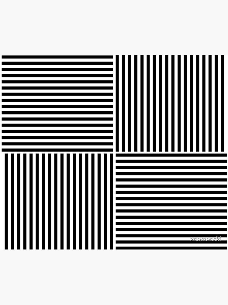 Optical Illusion Art, Horizontal and Vertical Lines ILLusion by znamenski