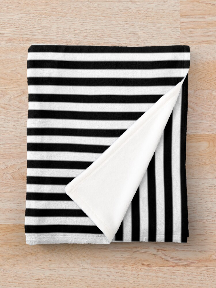 Alternate view of Optical Illusion Art, Horizontal and Vertical Lines ILLusion Throw Blanket