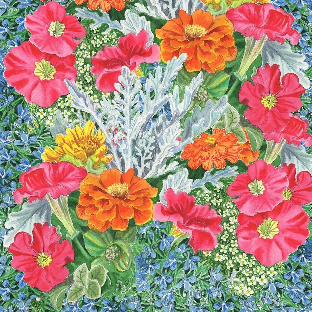 Flower Garden by Irina Sztukowski