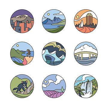 Round Tasmania Vignettes by taniawalker