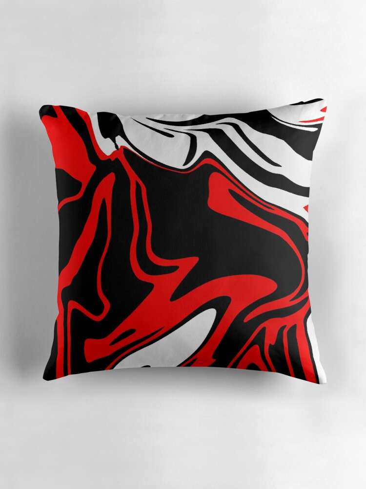 Black White And Red Throw Pillows :