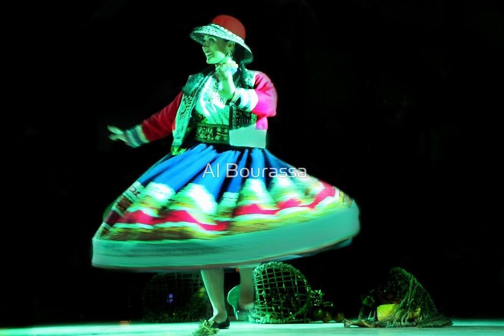 Peruvian Dancer In Andalucia by Al Bourassa
