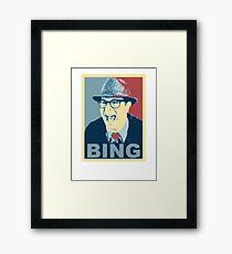 BING! Framed Print
