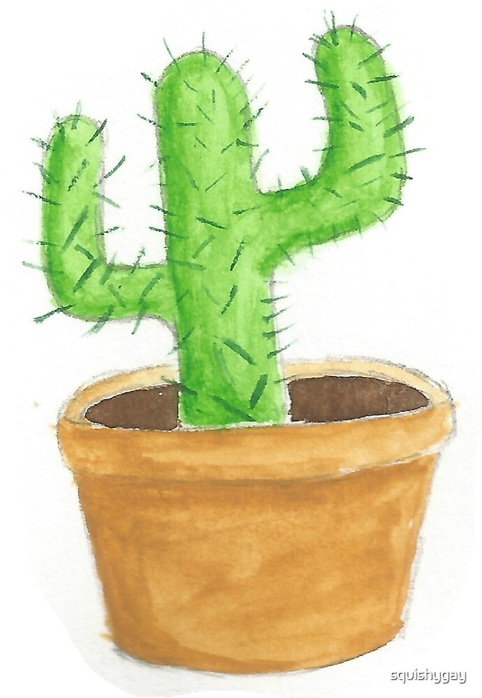 Potted Cactus by squishygay