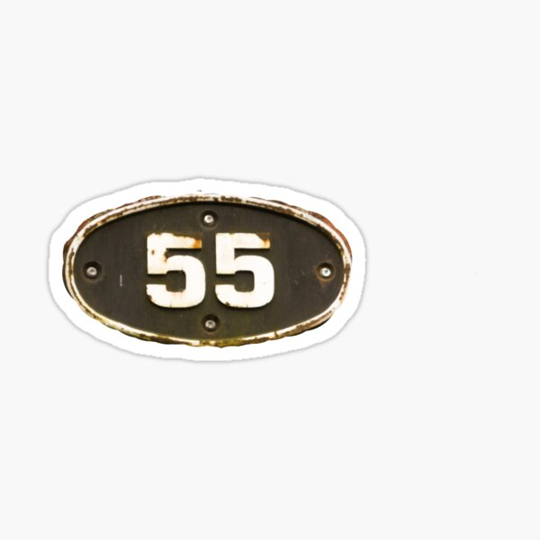 55 all the fives  Sticker