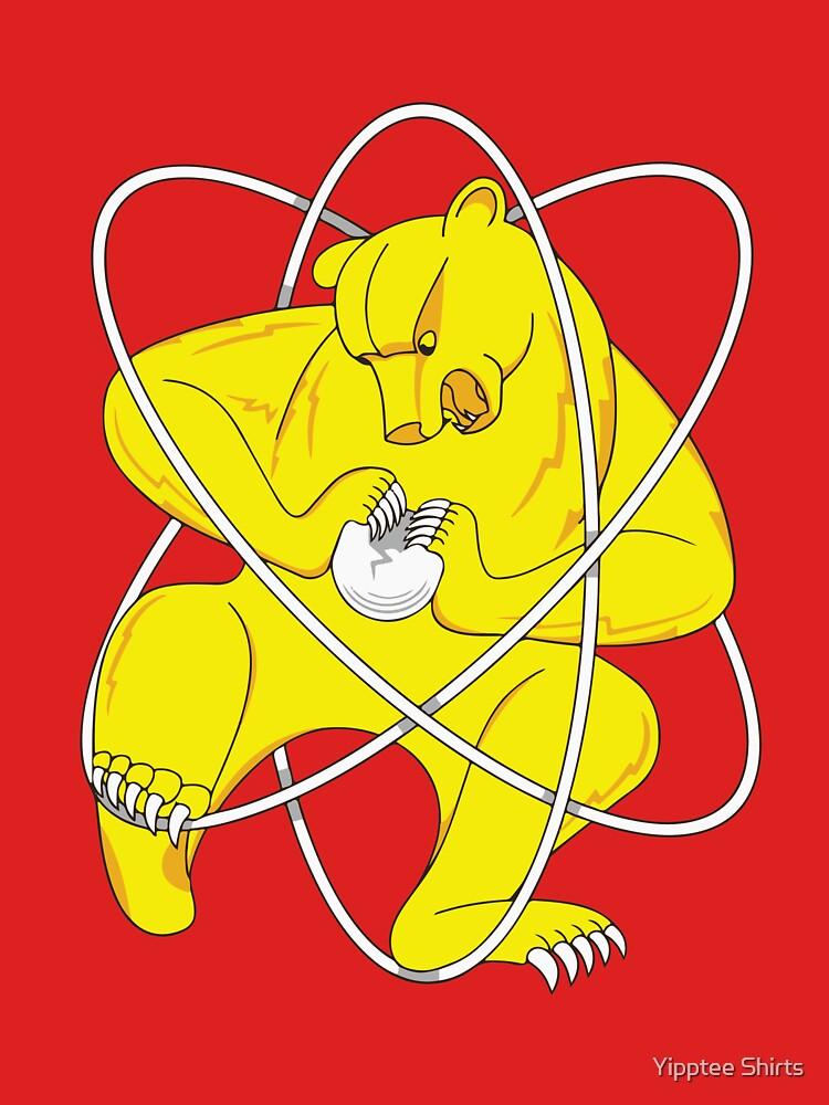 Bear Splitting Atom Zheleznogorsk Flag by dumbshirts