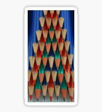 Colored Pencil Shapes Sticker