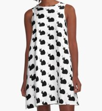 Lucky Black Cat A-Line Dress