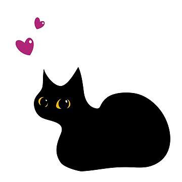 Lucky Black Cat by taniawalker