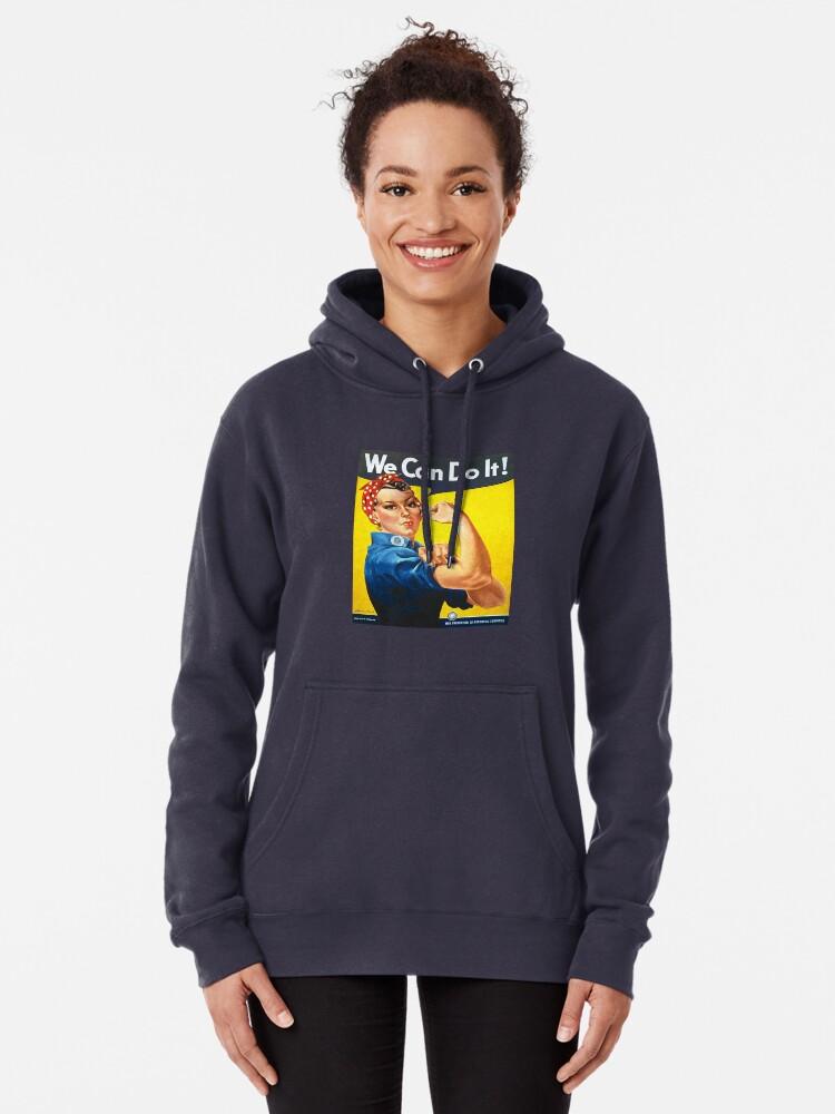 Vista alternativa de Sudadera con capucha Podemos hacerlo - Rosie the Riveter