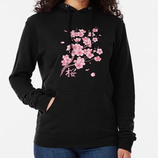 Chute de la fleur de cerisier Sakura Sweat à capuche léger