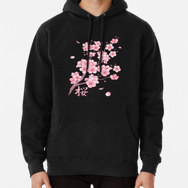 Falling Sakura Cherry Blossom Pullover Hoodie