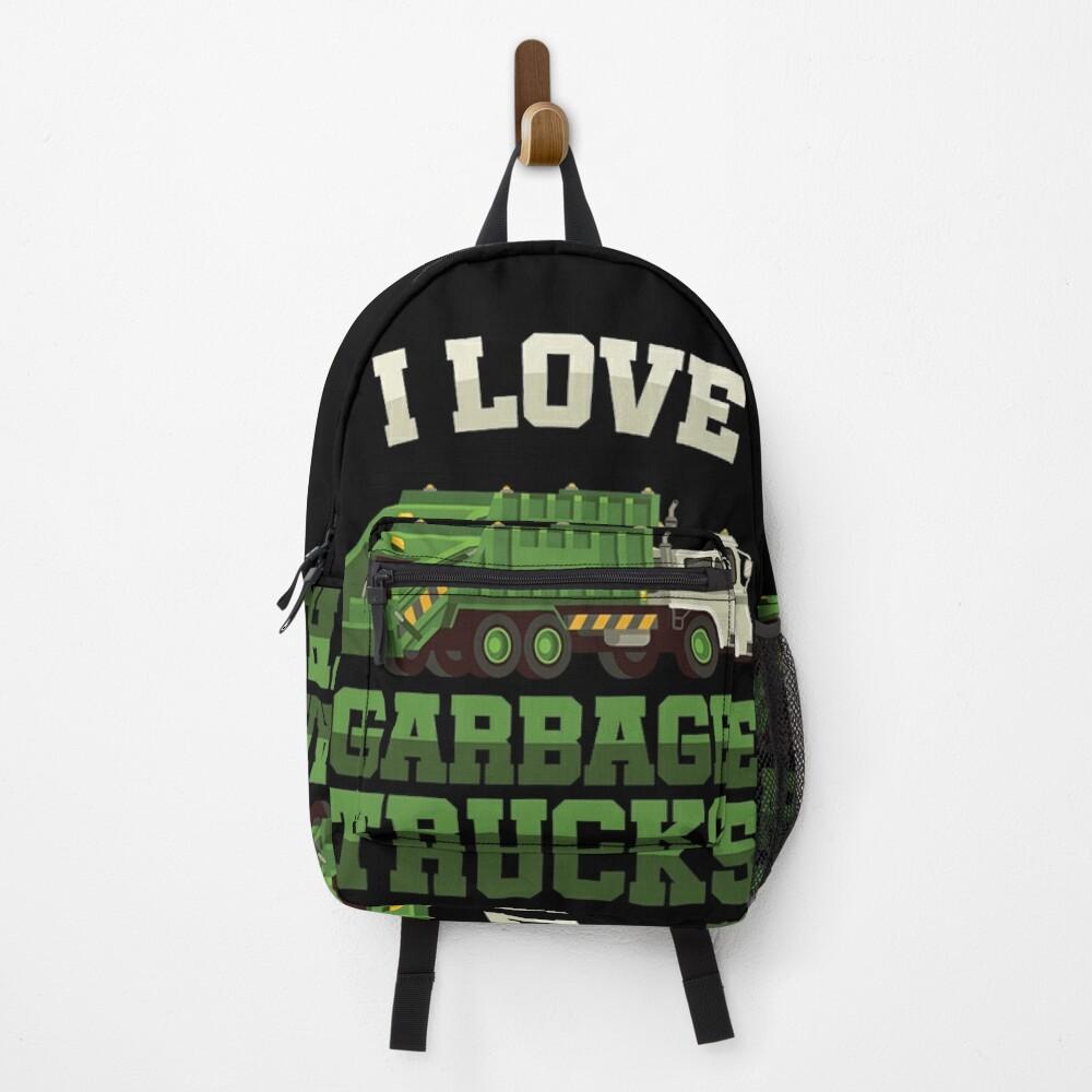 I Love Garbage Trucks Backpack
