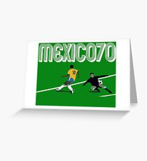 BRAZIL VS URUGUAY - WORLD CUP MEXICO 1970 Greeting Card