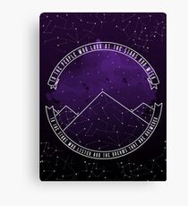 Look At The Stars And Wish | Night Court Canvas Print