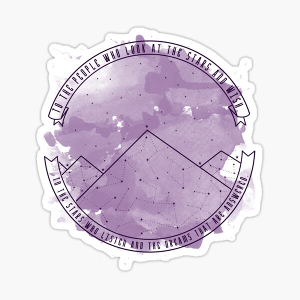 Look At The Stars And Wish | Night Court Sticker