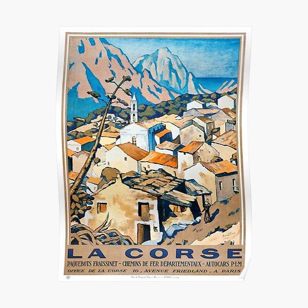 La Corse, Voyage Affiche Chemins de fer français Poster