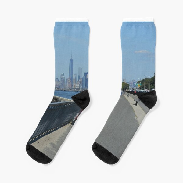 View of the Manhattan from the west coast of Brooklyn Socks