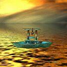 Lugano Fisher Boat by Gilberte